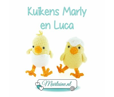 Marlaine Haakpatroon Kuikens Marly en Luca PDF | Marlaine