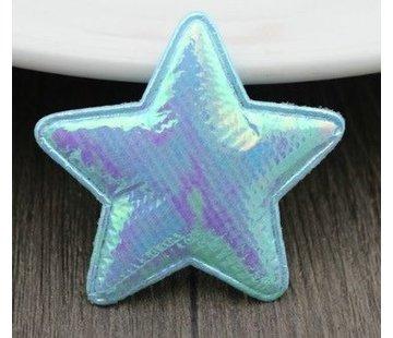 Huismerk Embleem Ster 50mm Blauw 2st.