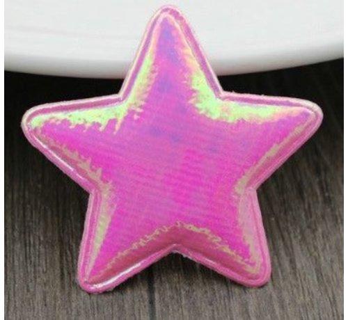 Huismerk Embleem Ster 50mm Roze 2st.