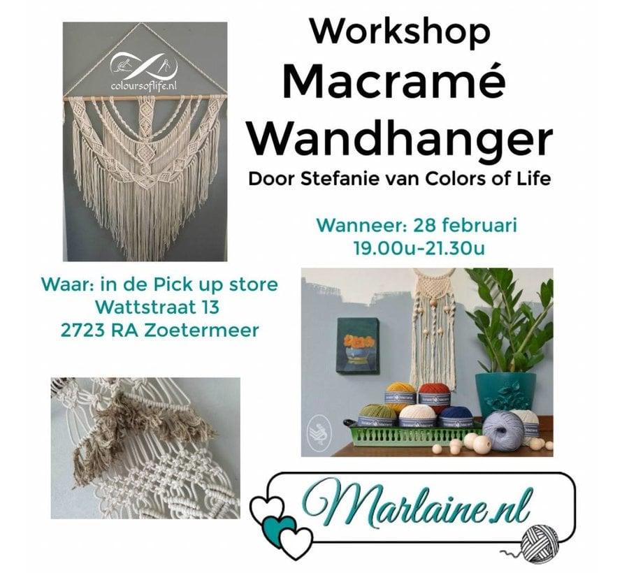 Workshop Macramé Wandhanger maken - Colours of Life