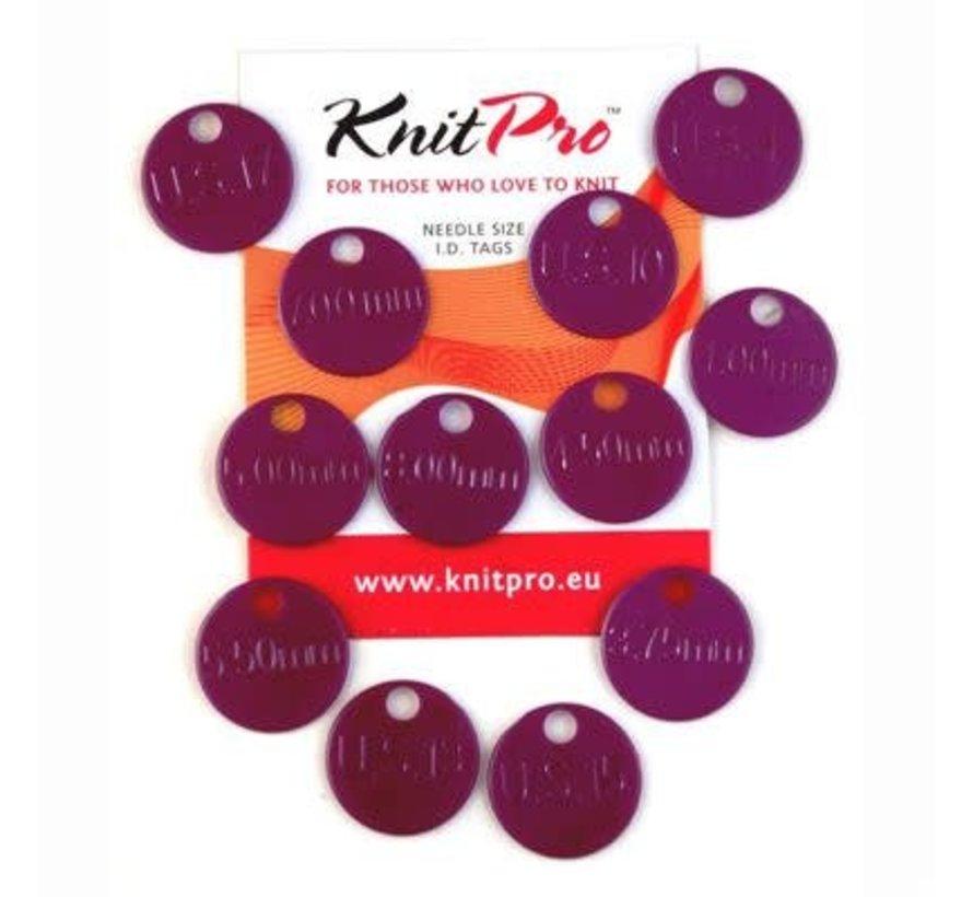 Knitpro Maat labels / Needle ID Tags