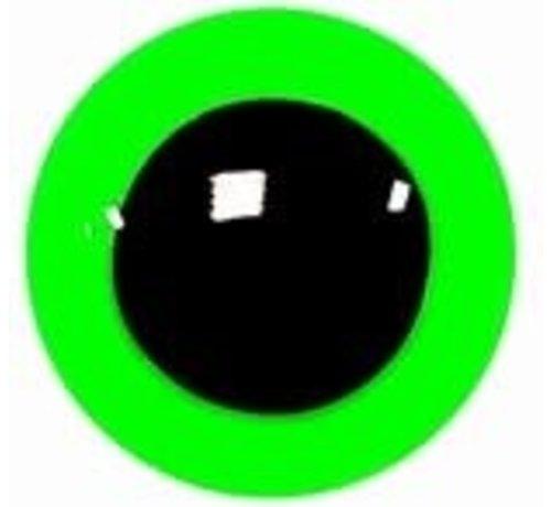 Veiligheidsoogjes Signaal groen 20mm - 2 paar