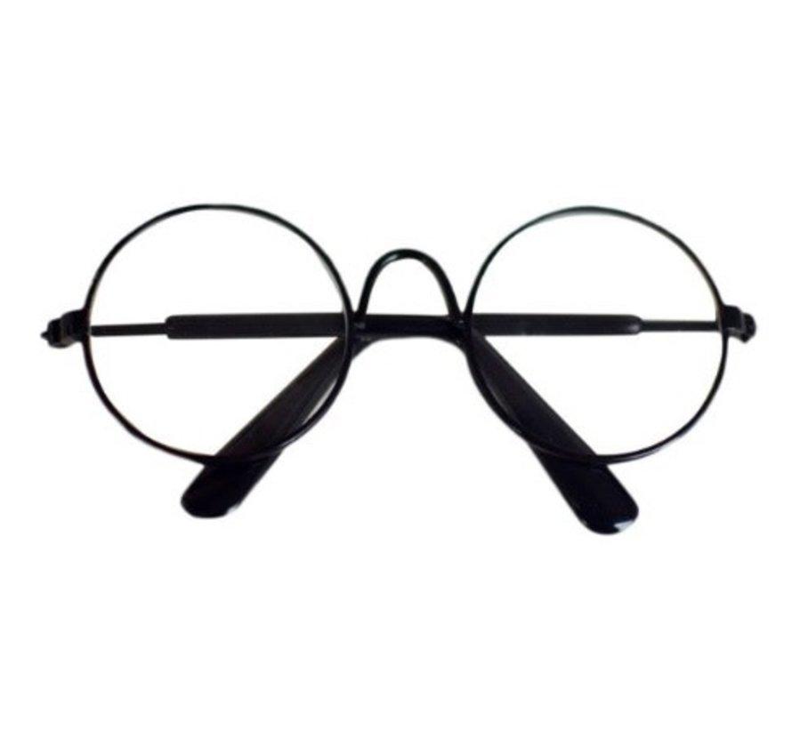 Brilletje Zwart 85mm per stuk