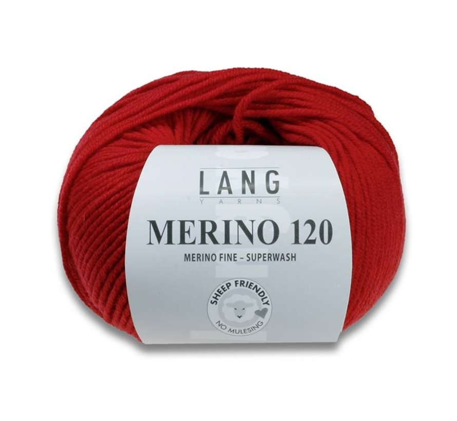 Lang Yarns Merino 120 368 Donker Bruin melange