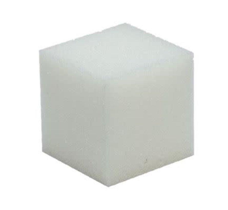 Schuimrubber kubus 10 x 10 cm