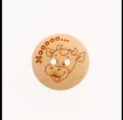 Huismerk Knoop Koe - Mooooo 20mm 3 stuks