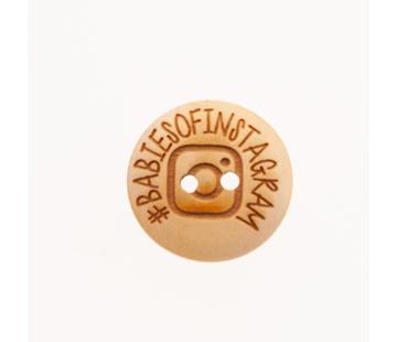 Huismerk Knoop #babiesofinstagram 20mm 3 stuks