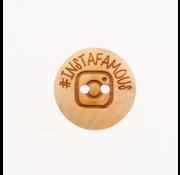 Huismerk Knoop #Instafamous 20mm 3 stuks