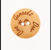 Huismerk Knoop gemaakt door Oma 25mm 3 stuks