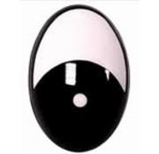 Huismerk Fantasie ogen zwart/wit - 2 paar