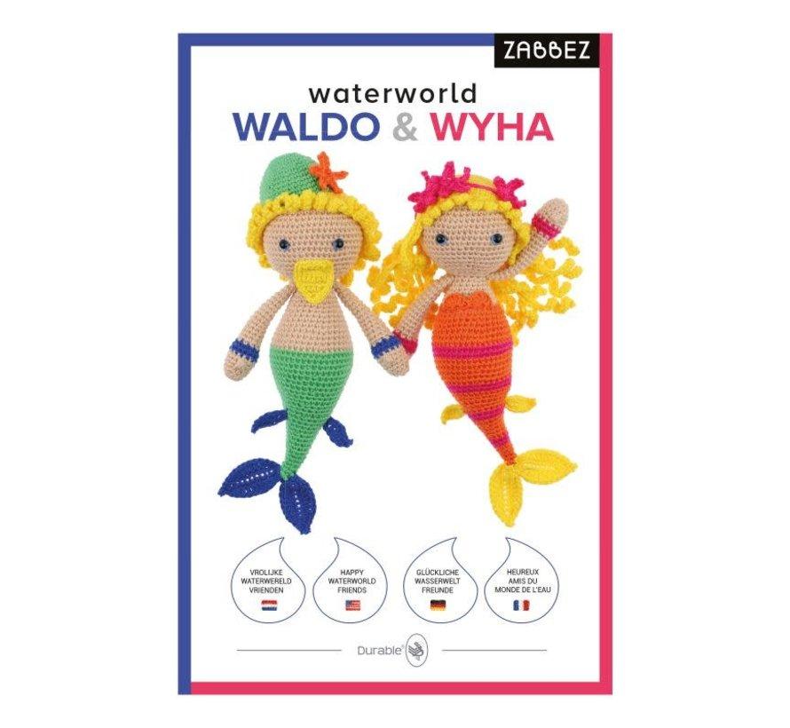 Haakpakket Waterworld Mermaids Waldo & Wyha - Zabbez