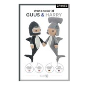 Zabbez Haakpakket Waterworld Sharks Guus & Harry - Zabbez