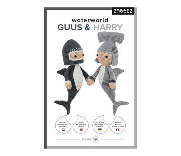 Zabbez Haakpakket Waterworld Sharks Guus & Harry - Zabbez