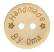 Huismerk Knoop Handmade by oma 'ster' 15mm 5 stuks