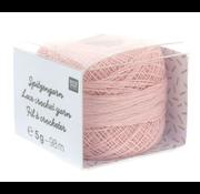 Rico Design Rico Design Lace Crochet Yarn - Kantgaren 002 Poeder roze