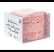 Rico Design Rico Design Lace Crochet Yarn - Kantgaren 003 Lichtroze