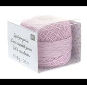Rico Design Rico Design Lace Crochet Yarn - Kantgaren 004 Lila