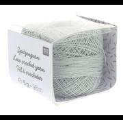 Rico Design Rico Design Lace Crochet Yarn - Kantgaren 008 Zilver grijs