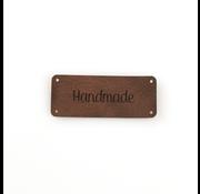 Marlaine Leren label 'Handmade' 20x50mm Bay Brown 5 stuks