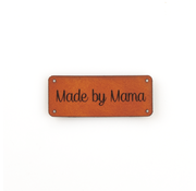 Marlaine Leren label 'Made by Mama' 20x50mm Chestnut