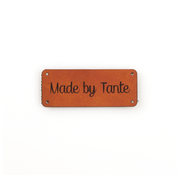 Marlaine Leren label 'Made by Tante' 20x50mm Chestnut