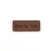 Marlaine Leren label 'Made by Tante' 20x50mm Bay Brown