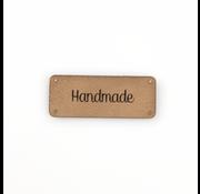 Marlaine Leren label 'Handmade' 20x50mm Buckskin