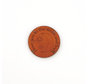 Leren label 'I love you to the moon and back' rond 35mm Chestnut - 2 stuks