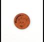 Leren label Koe 'Mooooo...' rond 35mm Chestnut - 2 stuks
