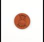 Leren label Nijlpaard 'Dikke knuffel' rond 35mm Chestnut - 2 stuks