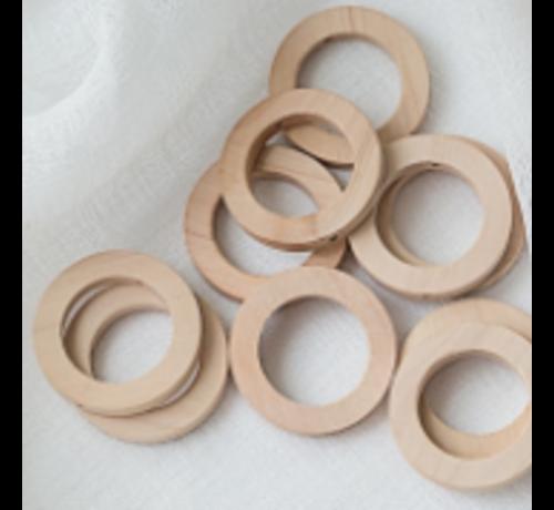 Huismerk Houten Ringen met gaatje 30mm
