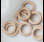 Houten Ringen met gaatje 30mm