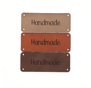 Marlaine Leren label 'Handmade' 20x50mm