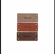 Marlaine Leren Label 'Voor juf' 15x35mm