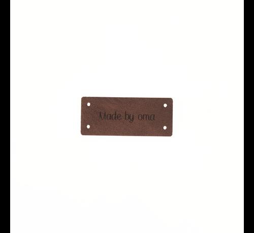 Marlaine Leren Label 'Made by oma' 15x35mm - 3 stuks