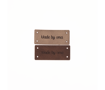 Marlaine Leren Label 'Made by oma' 15x35mm - 3 stuks