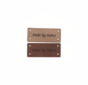 Marlaine Leren Label 'Made by mama' 15x35mm - 3 stuks