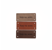 Marlaine Leren Label 'Keep me warm' 15x35mm - 3 stuks