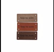 Marlaine Leren Label 'Keep me warm' 15x35mm