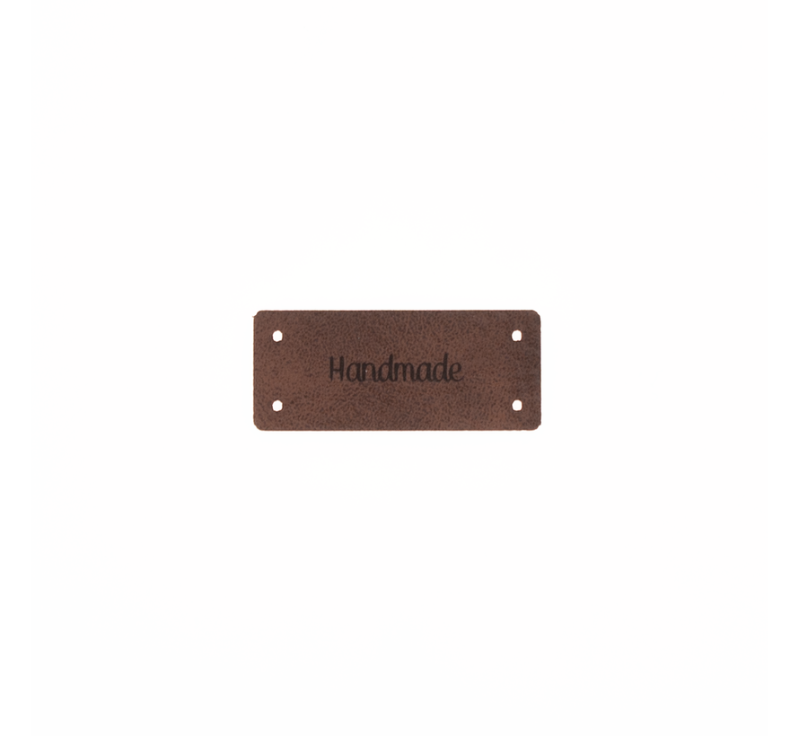 Leren Label 'Handmade' 15x35mm