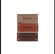 Marlaine Leren Label 'Handmade' 15x35mm - 3 stuks
