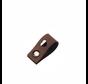 Leren Vouw Label 'Hartje' uitgestanst 2x10cm