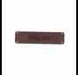 Leren label 'Baby love' 15x60mm - 2 stuks