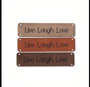 Marlaine Leren label 'Live Laugh Love' 15x75mm