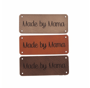 Marlaine Leren label 'Made by mama' 20x50mm - 3 stuks