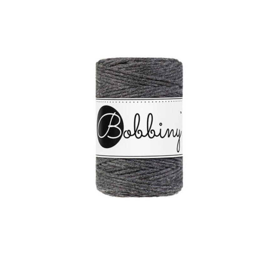 Bobbiny Macrame cord 1,5mm Charcoal