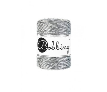 Bobbiny Bobbiny Macramé cord 3mm Metallic Silver Limited Edition