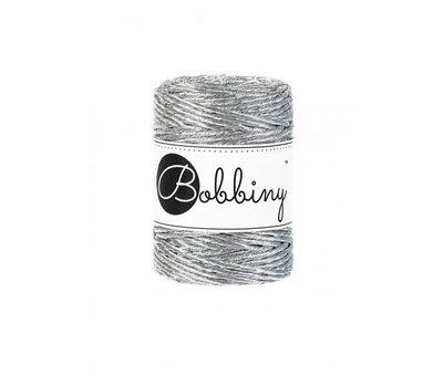 Bobbiny Bobbiny Macramé cord 3mm Metallic Silver Limited Edition