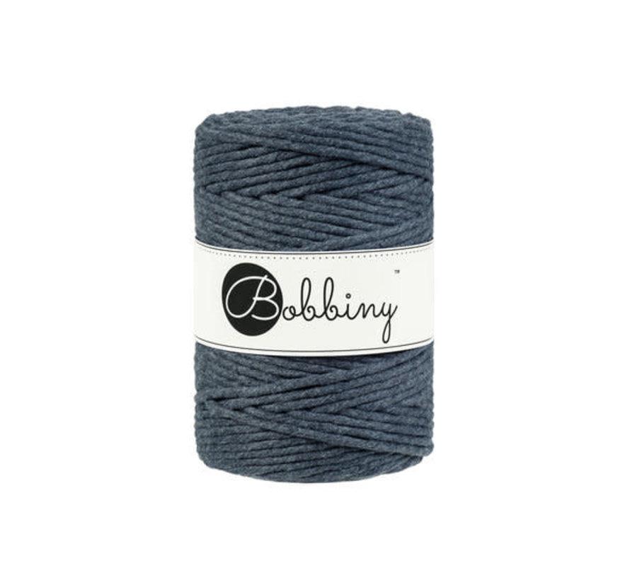 Bobbiny Macramé cord 5mm Charcoal