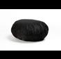 Binnenkussen voor lage poef 60cm zwart